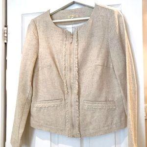 NWOT Linen women's blazer with zipper